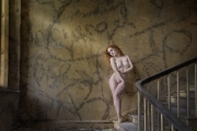 Ann Francis - Nude on Stairs