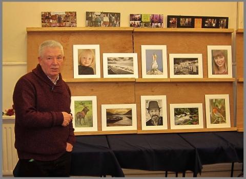 Martin Dorgan showing his successful LIPF panel