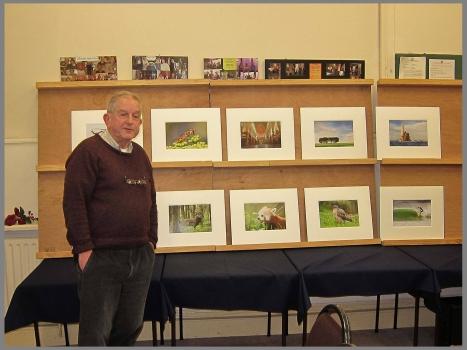 John Tait showing his successful LIPF panel