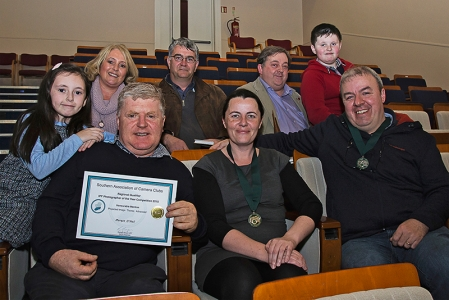 Some very happy CCG members - along with some fans! — with Siobhan O'Neill, Morgan O Neill, Eric Dunne-Magner, Niamh Whitty, Bill Power and Paul Flynn.