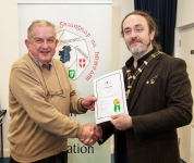 IPF President Michael O'Sullivan pictured presenting LIPF distinction to John Tait