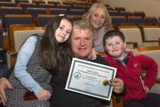 Morgan O'Neill with his wife Siobhan, daughter Kailan and son Morgan junior.