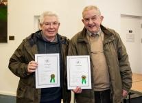 Martin Dorgan and John Tait with their LIPF certificates