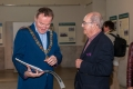 Cork City Lord Mayor Cllr Des Cahill enjoying our catagloue in the company of Cork Salon Chairman Joe Forde