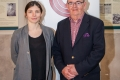 Eileen O'Shea, Events Manager at St Peter's with Cork Salon Chairman Joe Forde