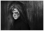 "Best Monochrome Print ""A Sister Scorned"" by Paula Falvey"