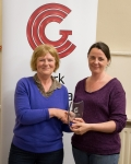 CCG Chair Ann Francis presenting Photographer of the Year Grade 1 Winner award to Niamh Whitty.jpg