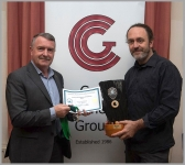 CCG Chair Noel O'Connell presenting Michael O'Sullivan with all this awards from SACC Creative Photography Competition - including overall award