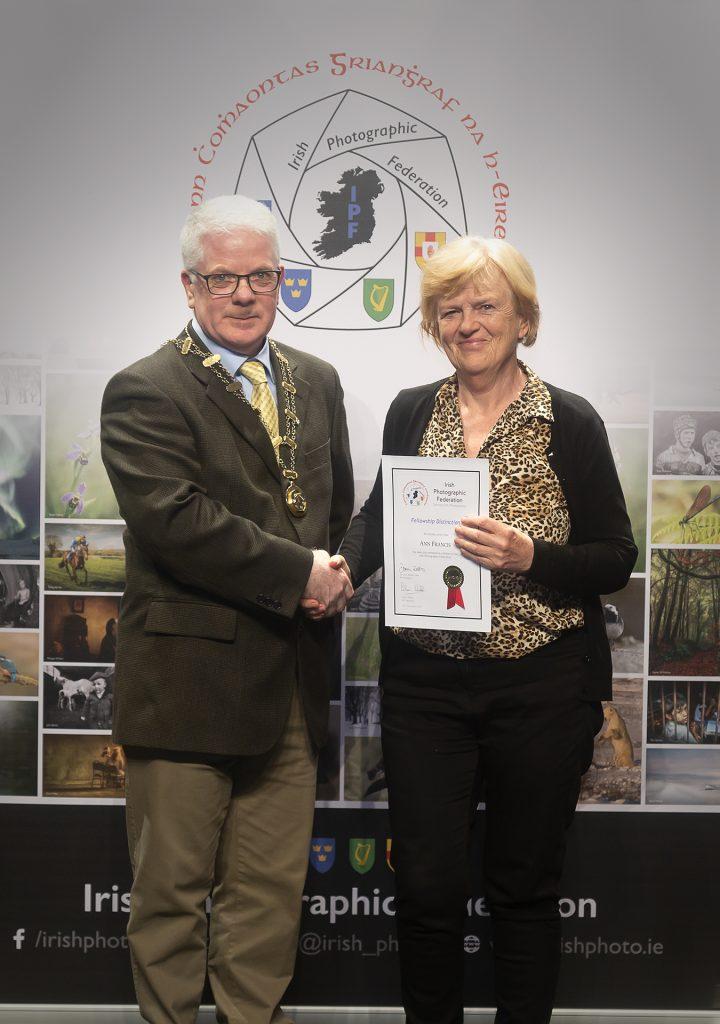 Ann Francis receiving her Fellowship
